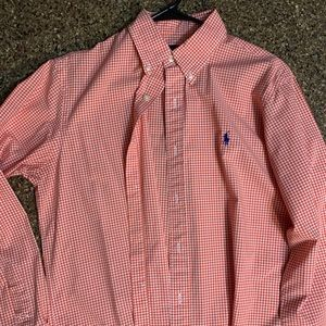 Polo Ralph Lauren casual button down shirt orange